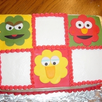 Sesame Street I make this cake to take to a Festival of Trees but didn't put any writing in it yet just in case the person buying wanted it...