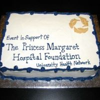Princess Margaret Hospital Fundraiser   I made this cake for a friends' fundraiser dinner.