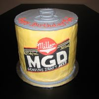 Mdg Beer Can  The request was MDG beer and I didn't want to copy my Corona cake so I made a beer can instead. I just stacked cake, then filled and...