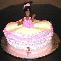 Ballerina   I made this cake for my god-daughter who an advocate of Ballet.