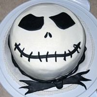 Jack Skellington I made this for my Dh's birthday. Buttercream for the white part and pre-made Wilton fondant for the black...I was being lazy.