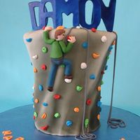 Rock Climbing Cake Birthday party at a rock climbing gym.
