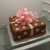 Brown And Pink Gift Box