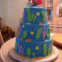 Little Mermaid A Little Mermaid cake for Ashleigh. Thanks for looking.