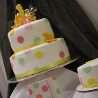 Birthday Dots First Birthday cake with buttercream smash cake. Made to match invites - with some color changes on the dots from the Mother. She also sent...