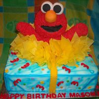 Elmo's World Birthday   My first 3D cake - RKT Elmo, fondant icing.