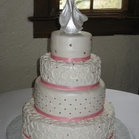 Andrea's Wedding Cake Buttercream icing and pearls