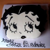 Betty Boop Chocolate cake covered with fondant. I really enyojed making it.