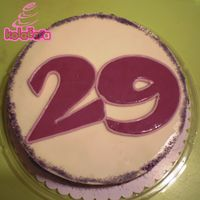 29 The lady wanted simple cake with big 29 on it. That's wat she got, I like it cos it's so simple.