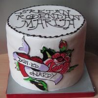 Don Ed Hardy This was the b'day cake for the friends doughter. She wanted me to put one of her graphic on the cake, but didn't provide...
