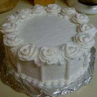 White Roses   I did this cake so I could practice my roses. Got the design from the Wilton course 1 book.