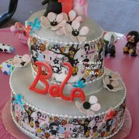 Belas_First_Birthday.jpg Permission was granted to use the edible images on the sides of the cake. 1st birthday. Matching mimi cake for one year old