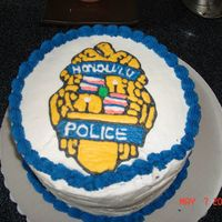 Hpd Cake My husband works for HPD so I made this cake and while it was in the refridgerator my husbad dropped a bottle on the side. He still took it...