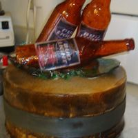 Beer Bottle Cake   Here is my first attempt at a beer bottle cake. It was alot easier that I thought and hopefully the next one will be alot better.