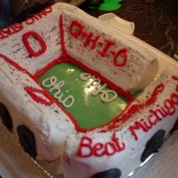 Osu Stadium Cake, End View OSU Stadium cake I made for our neighborhood annual BEAT MICHIGAN party. No one wanted to eat it, they thought it was part of the...