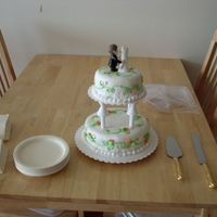First Wedding Cake! My husband's coworker got married in Vegas and they had a reception for him and watched the wedding via the web. He asked me if I...
