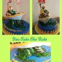 Peter Pans Flight This is my (cake) version of a figurine my daughter brought home from her trip to Disneyland.....The Boat and the mountains are made out of...