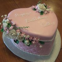 Quilted Satin Heart Box Cake