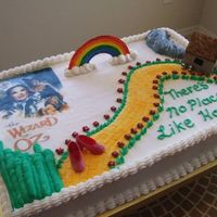 Wizard Of Oz Just a quick cake I made for my daughters Drama club cast party!