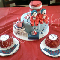 "Thing 1 And Thing 2 Birthdays  I made this cake for a colleague whose twins (boy and girl) were turning 1. I saw this design by mooj and fell in love with it. 10""..."