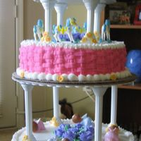 3 Tier Baby Shower I made this cake for a baby shower. This was one of my first cakes...