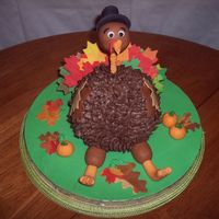 Gobble Gobble Inspired by nefgaby, who also helped with the construction. Cake was made with the ball pan (red velvet because I thought it would be funny...