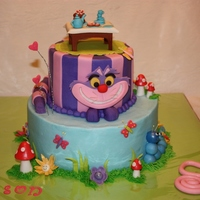 Alice In Wonderland Got ideas from Cake Central, Google searches and a book and put them all together.