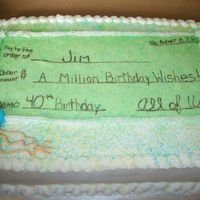 Check  This is a check cake made for a customer.... it is definately not my best work by far, but it is exactly what she wanted and she was happy...
