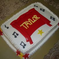 High School Musical! This cake is High School musical inspired! I made it for my niece Taylor who absolutely loves that movie. It is a chocolate cake with...