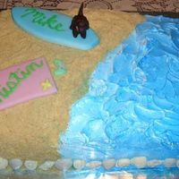 Rehearsal Dinner Cake! This is a cake I made for friends who love the beach... itis CC inspired.... so thank you so much for all of your ideas.... the cake is...