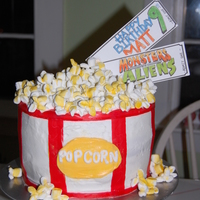 Popcorn And Movie Cake