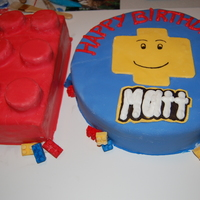 Lego Cake This was for my son's 10th Lego Birthday Party. I make the lego decorations out of fondant...it was a big hit!