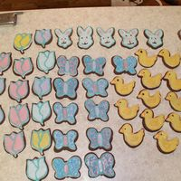 First Thing I Ever Decorated!!!!!!!!!!!!! i made these cookies for everyone for easter. everyone liked em and said they were purdy... i had never decorated any cake or cookie before...