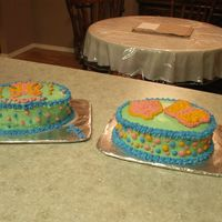 Mine And My Bfs these are our 2 cakes for our moms