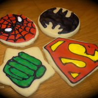 Superhero Cookies   These were ordered for a baby shower. I got lots of ideas from CC... thank you! NFSC and Antonia's icing