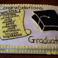 Kindergarten Graduation Cake Did this for a little boy and his classmates that just graduated Kindergarten.