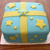 My First Attempt At Fondant the blue fondant is Wilton's white that I dyed. The yellow is MMF.