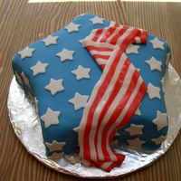 Memorial Day Cake I made this for a memorial day picnic....it was a HUGE cake as I ended up making it a 2-layer cake.