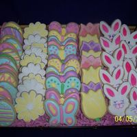 Easter Cookies Used Penney's recipe (Awesome!)...along with her RI....for a first timer, I was pretty pleased with these...