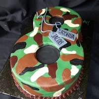 Jacob & Joshua Turn 8! Another camo cake... simple and easy!