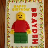 Lego Theme Birthday Cake The lego man is made using the silicone cake pan from the Lego store. The customer provided it. I tried twice to bake cake in it with no...