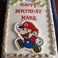 Mario B-Day Cake Simple sheet cake for my son's b-day. Mario is a BCT.