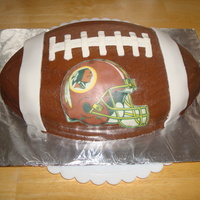 Redskins Football Cake Made this for a friend's birthday. Image was an edible image.