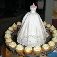 Rita's Wedding Gown Cake wonder pan with hand made bodice.