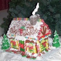 Ginger Bread House Cake Chai spice cake