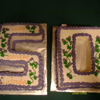 50Th Birthday Cake co-worker was truning 50 and wanted cake. My frist one like this.
