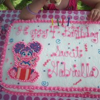Abby Cadabby my daughters birthday!! buttercream with chocolate transfer.