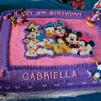 Mickey And Gang my daughters 5th birthday party!! buttercream and chocolate transfer!! loved this one. thanks for looking!!