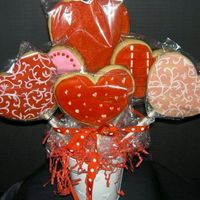 Valentine Cookie Bouquet sugar cookie bouquet.