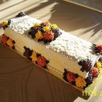 Thanksgiving Centerpiece Cake Another angle.